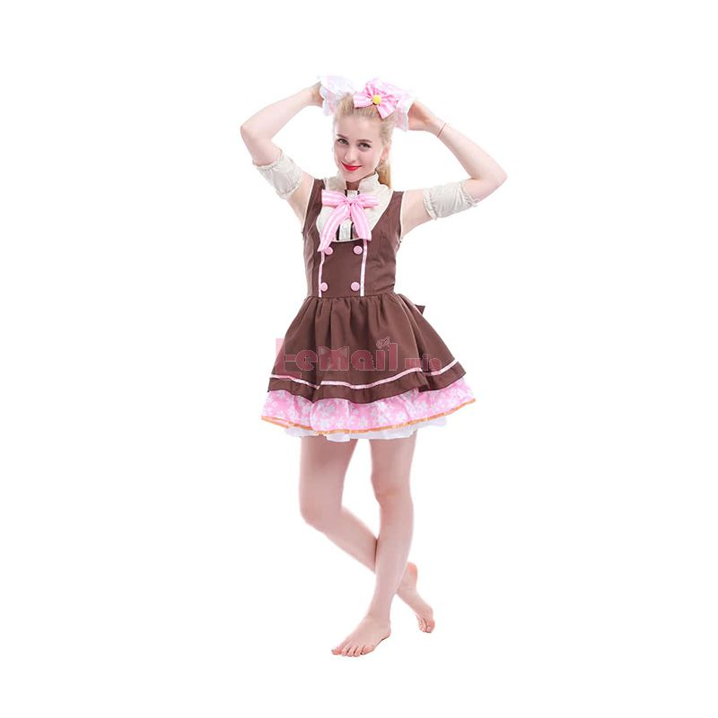 Lovelive Nico Yazawa Maid Cosplay Costumes