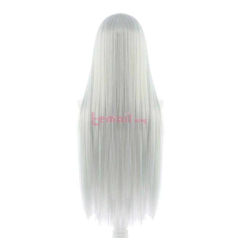 Cells at Work! White Blood Cell Hataraku Saibou Long Straight Light Gray Cosplay Wigs