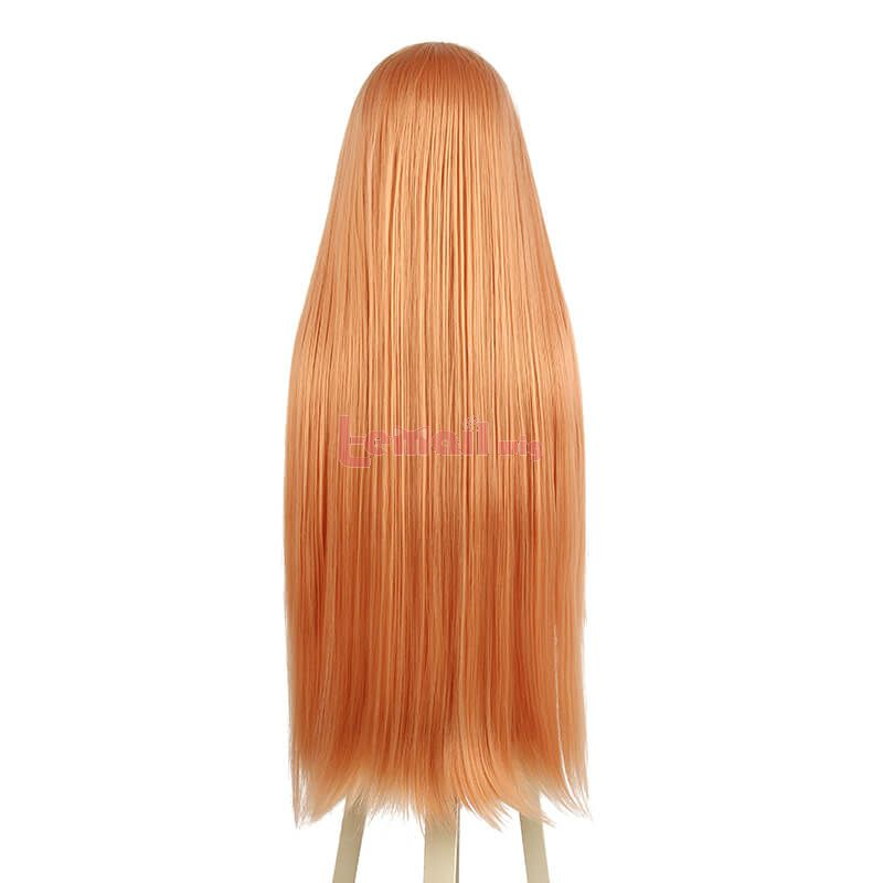 Chainsaw Man Power Long Straight Orange Cosplay Wigs