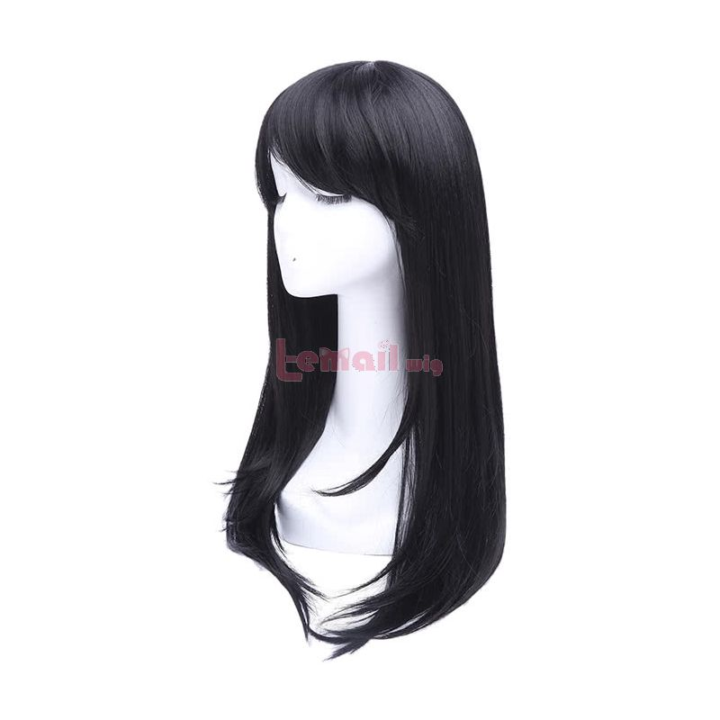 65cm Long Black Anime Straight Cosplay Party Wig CW143Q