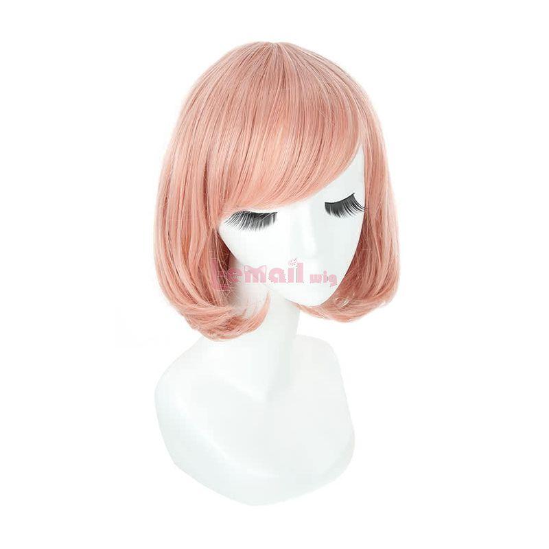 Anime Kyoukai no Kanata Kuriyama Mirai Cosplay Wig Pink Short Bob