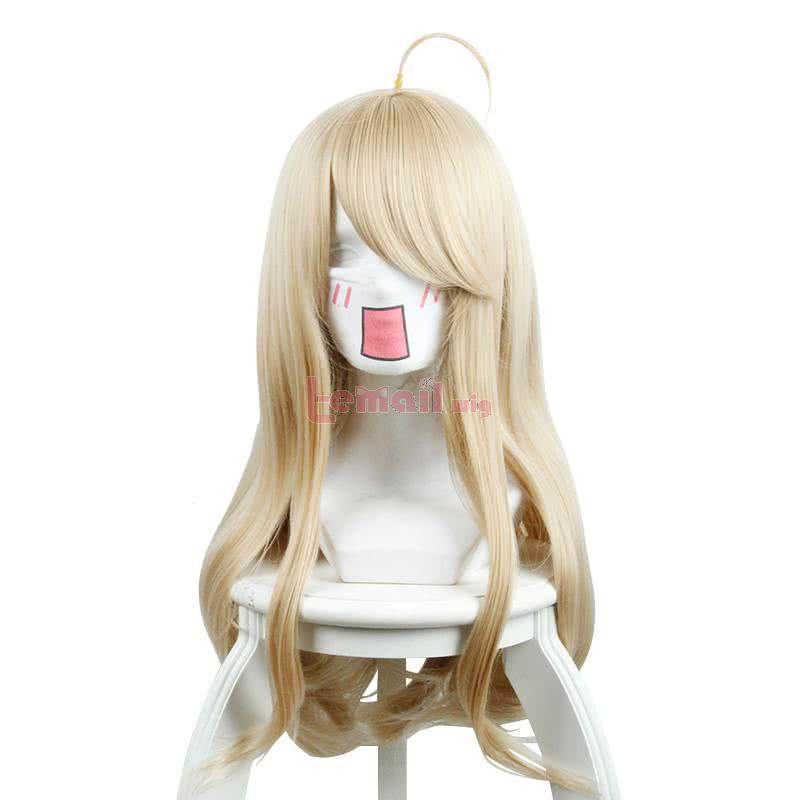 Danganronpa V3 Akamatsu kaede Long Straight Blonde Cosplay Wigs