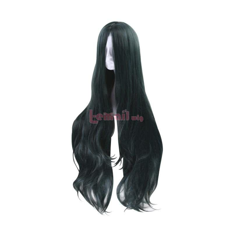 DanganRonpa V3 Korekiyo Shinguji 100cm Long Curly Dark Green Cosplay Wigs