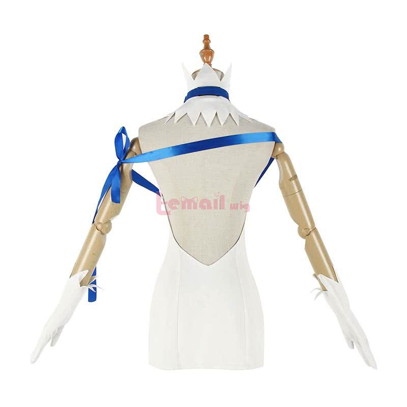 Danmachi/Is It Wrong to Try to Pick Up Girls in a Dungeon Hestia White Dress Fullset Cosplay Costume