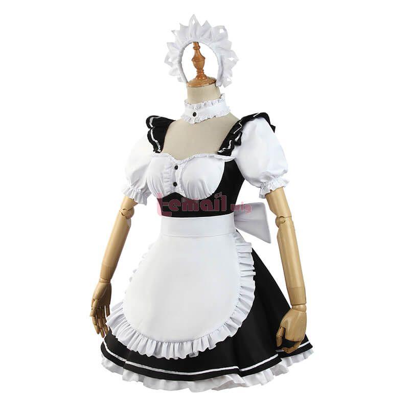 Date A Live Tokisaki Kurumi Women Maid Cosplay Costume