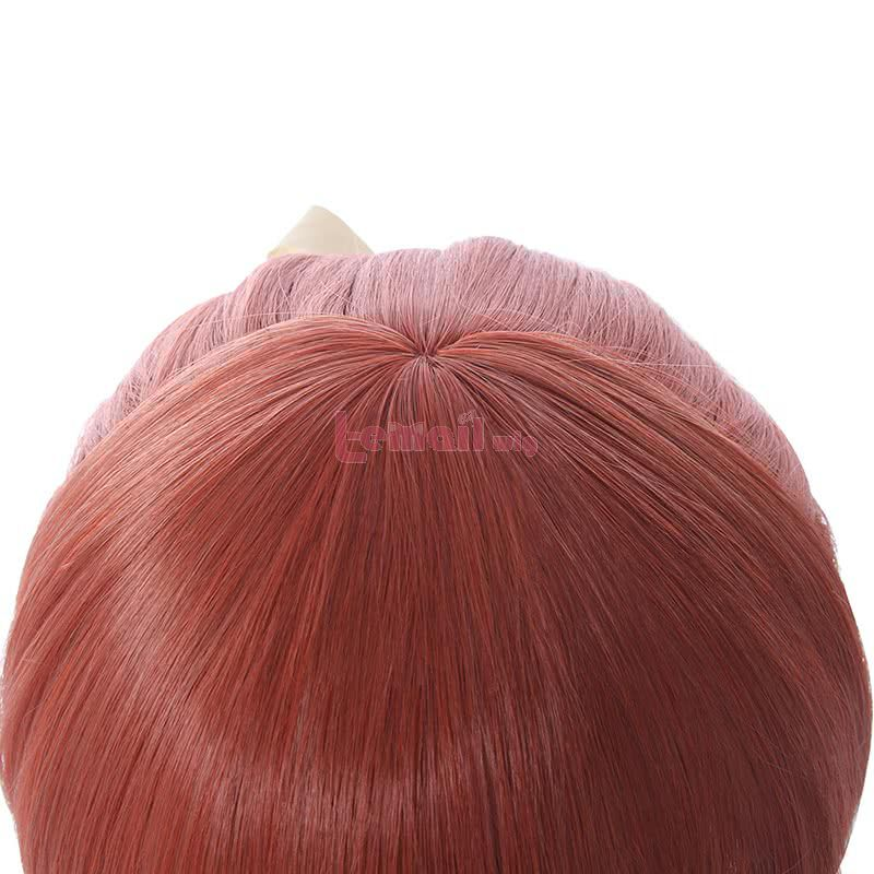 DDLC Monika Cosplay Wigs Long Straight Pink