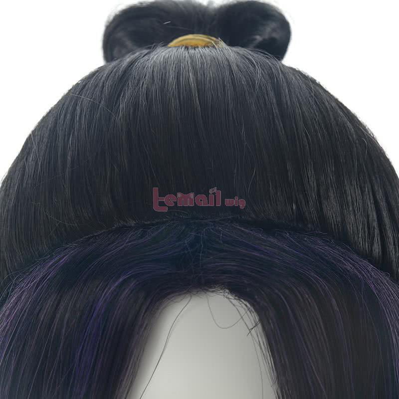 Demon Slayer / Kimetsu no Yaiba Kochou Shinobu Short Gradient Color Cosplay Wigs