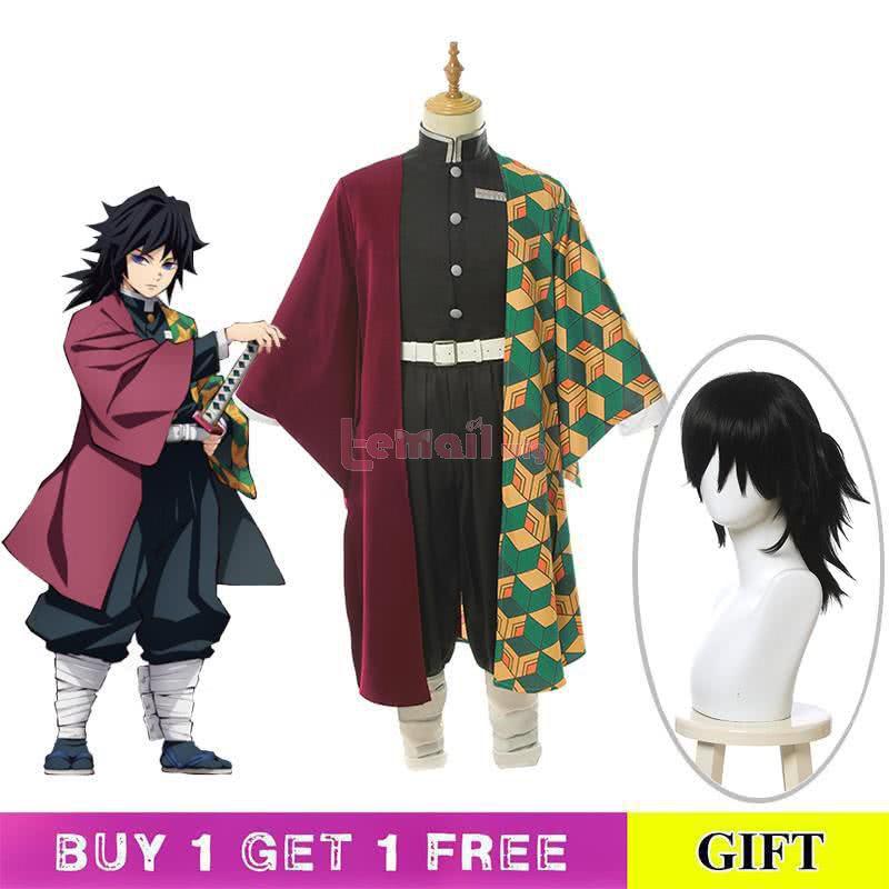 Demon Slayer Kimetsu no Yaiba Tomioka Giyuu Kimono Cosplay Costume