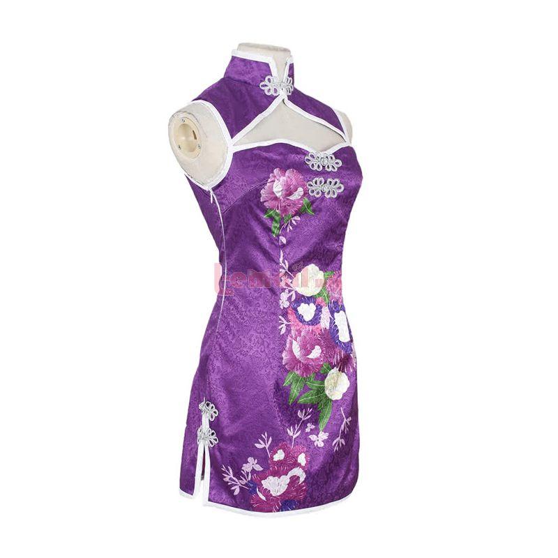 Love Live! Tojo Nozomi Purple Qipao Cosplay Costumes