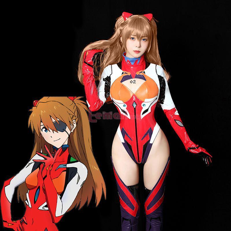 Evangelion Asuka Langley Soryuu Combat Suit Cosplay Costume
