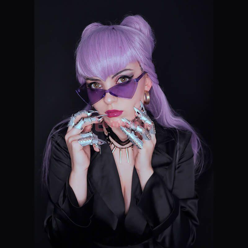 LOL KDA BADDEST Evelynn Purple Cosplay Wigs