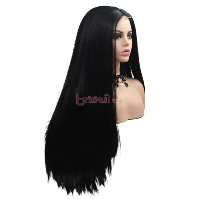 Fashion Long Straight Hair Black Lace Front Wigs Cosplay Wigs
