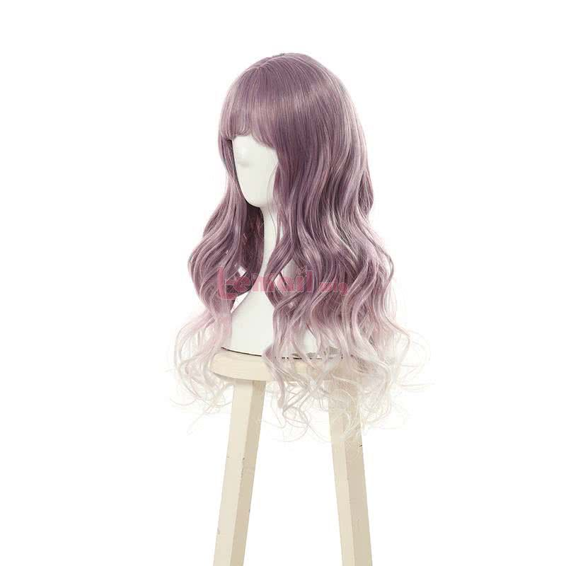 Fashion Curly Mixed Color Lolita Wigs Long Women Hair With Bangs