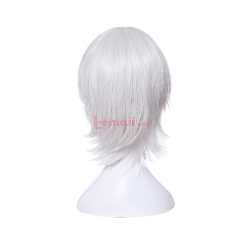 Fate Grand Order Black Assassin Jack the Ripper Women Synthetic Short White Cosplay Wigs