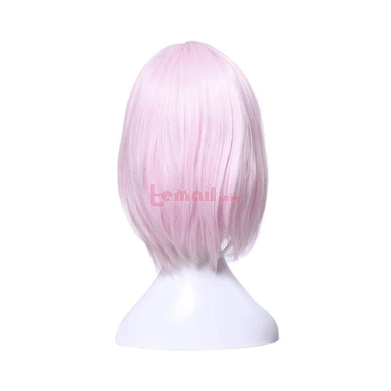 Fate/Grand Order Matthew Kyrielite Short Light Pink Cosplay Wigs