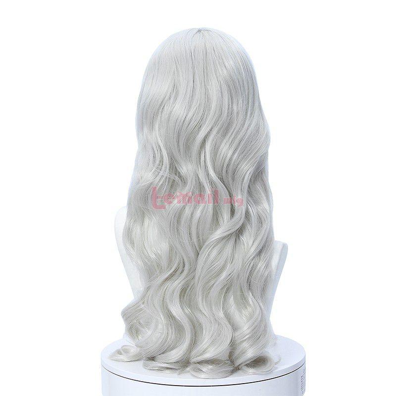 Fate Hollow Ataraxia Caren Hortensia Lolita Gray Silver long Curly Cospaly Wigs