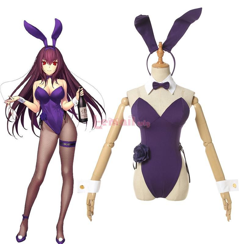 FGO Fate Grand Order Scáthach Bunny Girl Cosplay Costume