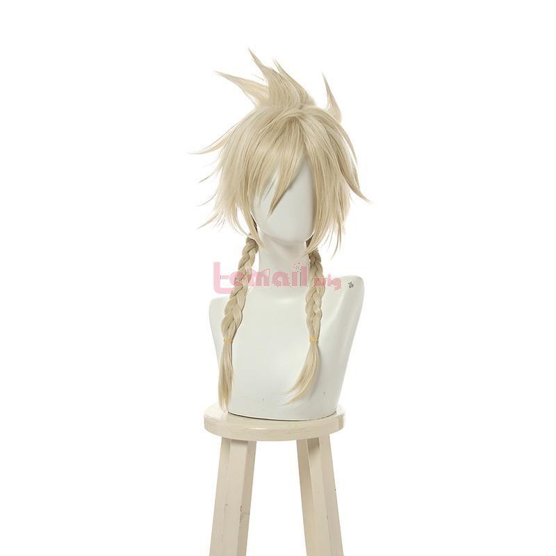 Final Fantasy Cloud Strife Crossdress Medium Blonde Cosplay Wigs