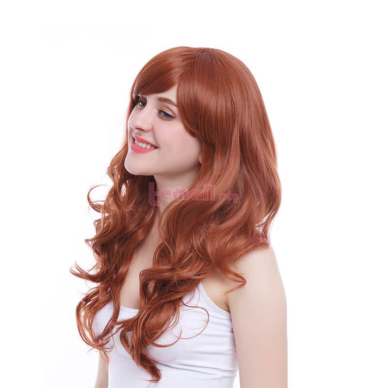 long orange wigs