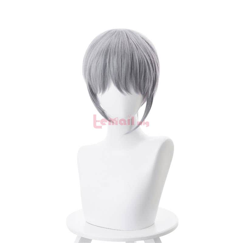 Fruits Basket Soma Yuki Short Straight Grey Men Cosplay Wigs
