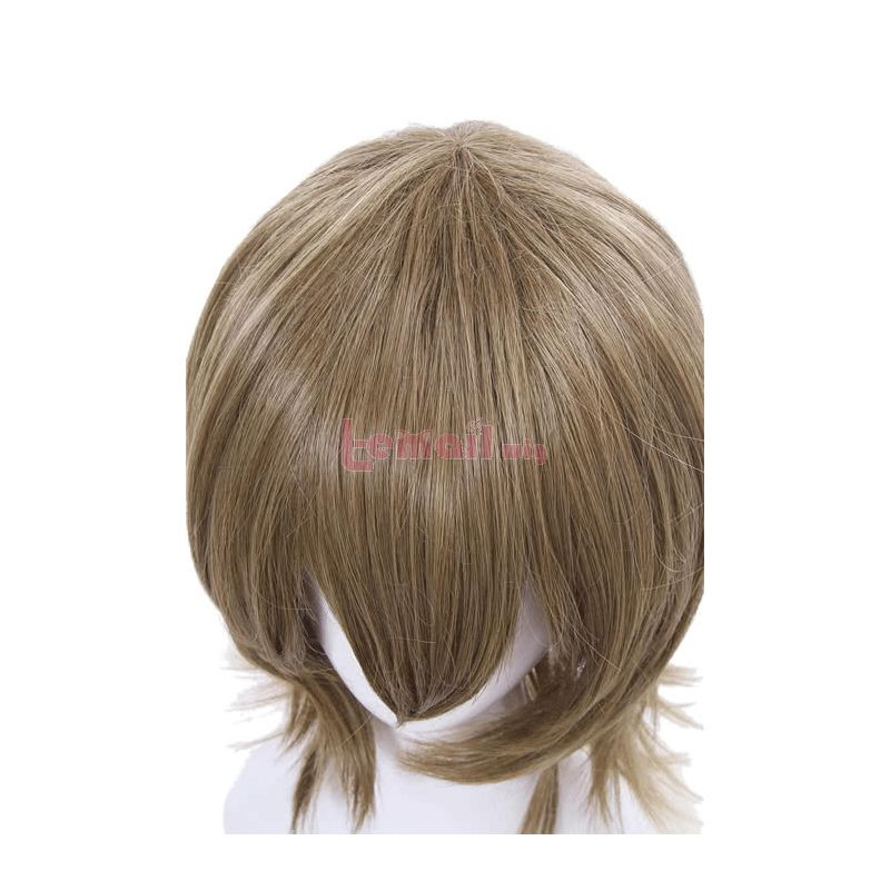 Game Persona 5 Goro Akechi Short Curly Flaxen Synthetic Men Cosplay Wigs