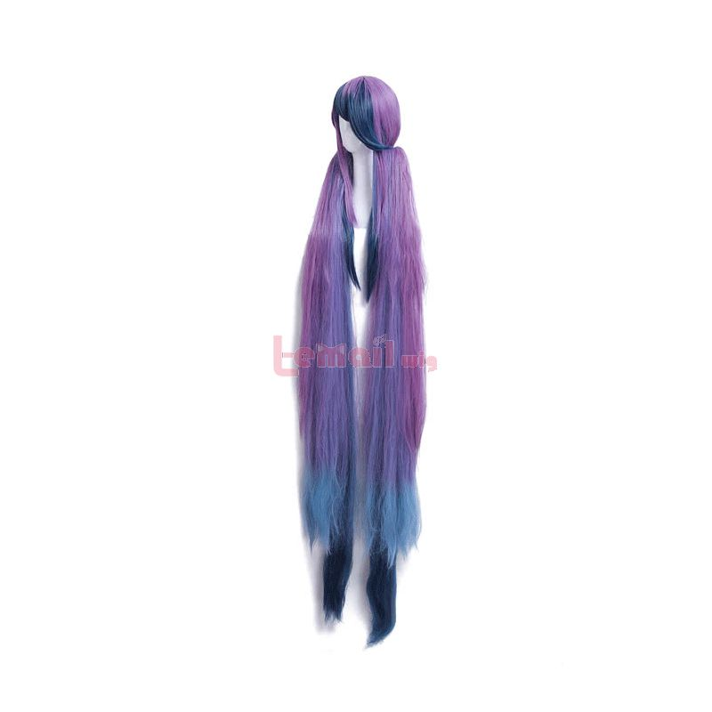 Game SINoALICE Little Mermaid Super Long Purple mixed Blue Synthetic Women Cosplay Wigs