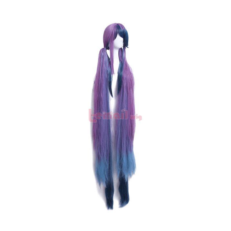 Game SINoALICE Little Mermaid Super Long Purple mixed Blue Synthetic Women Cosplay Wigs