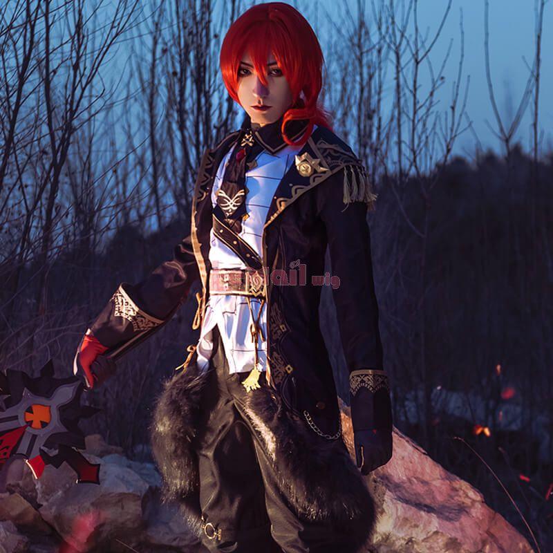 Lemail Wig Game Genshin Impact Diluc Fullset Cosplay Costume