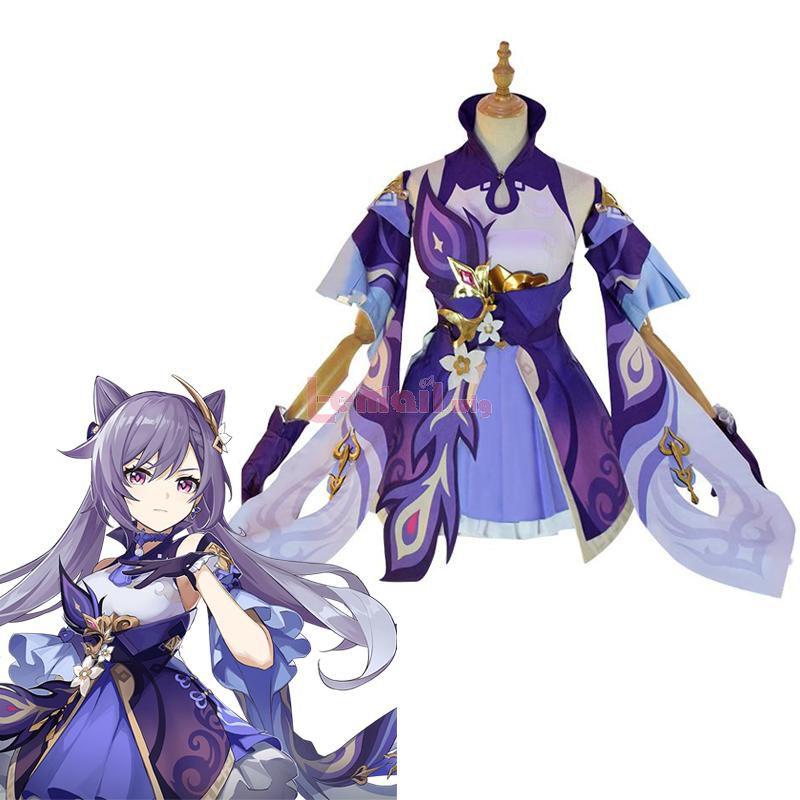 Game Genshin Impact Keqing Fullset Cosplay Costume