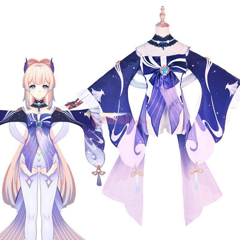 Game Genshin Impact Kokomi Cosplay Costume