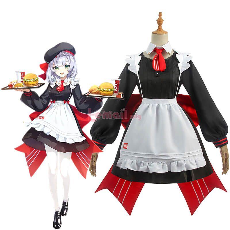 Game Genshin Impact Noelle Maid Dress Cosplay Costume