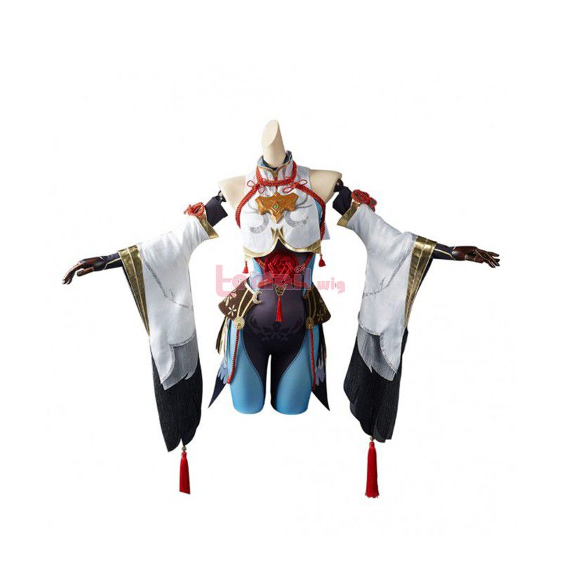 Game Genshin Impact Shenhe Skin Cosplay Costume