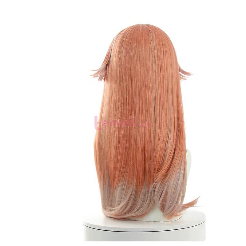 Game Genshin Impact YanFei Long Light Pink Cosplay Wigs