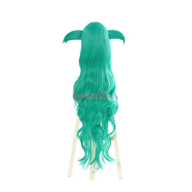 Game League of Legends Star Guardians Soraka Cosplay Wigs Synthetic Long Curly Green Women Cosplay Wigs