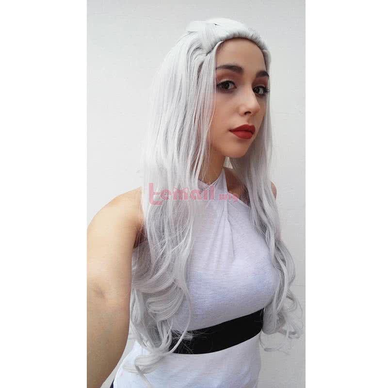 Daenerys Targaryen Silver Curly Cosplay Wigs