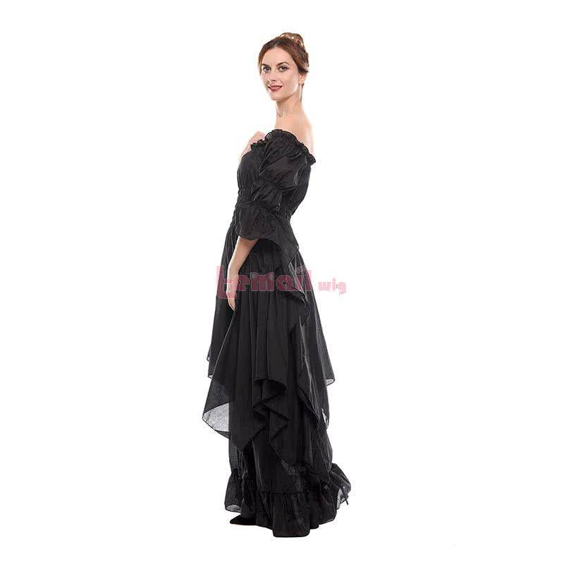 Women Renaissance Victorian Medieval Long Vintage Dress