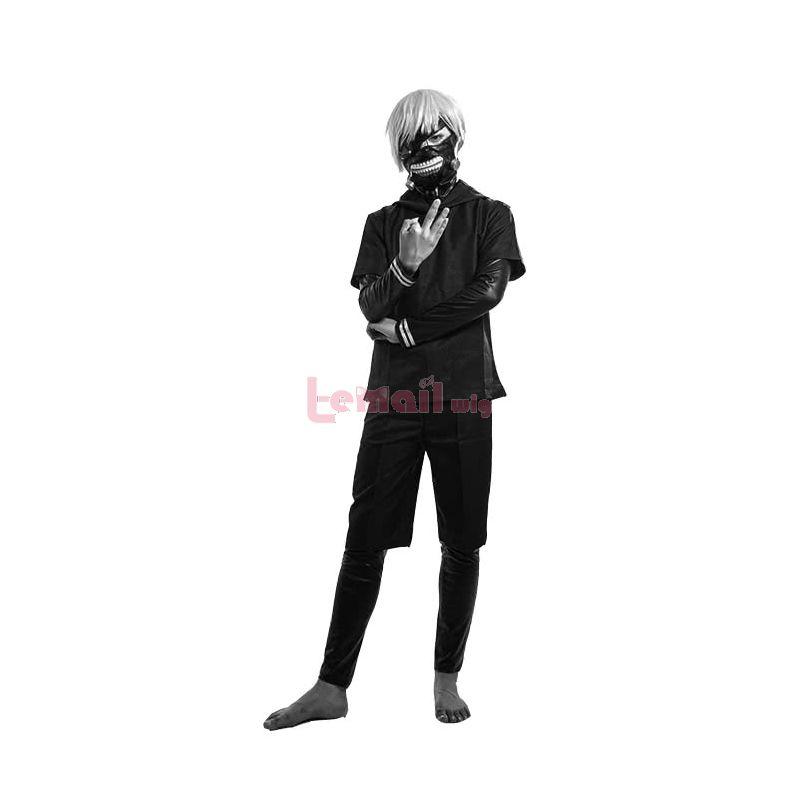 Tokyo Ghoul Kaneki Ken Black Suit Cosplay Costume