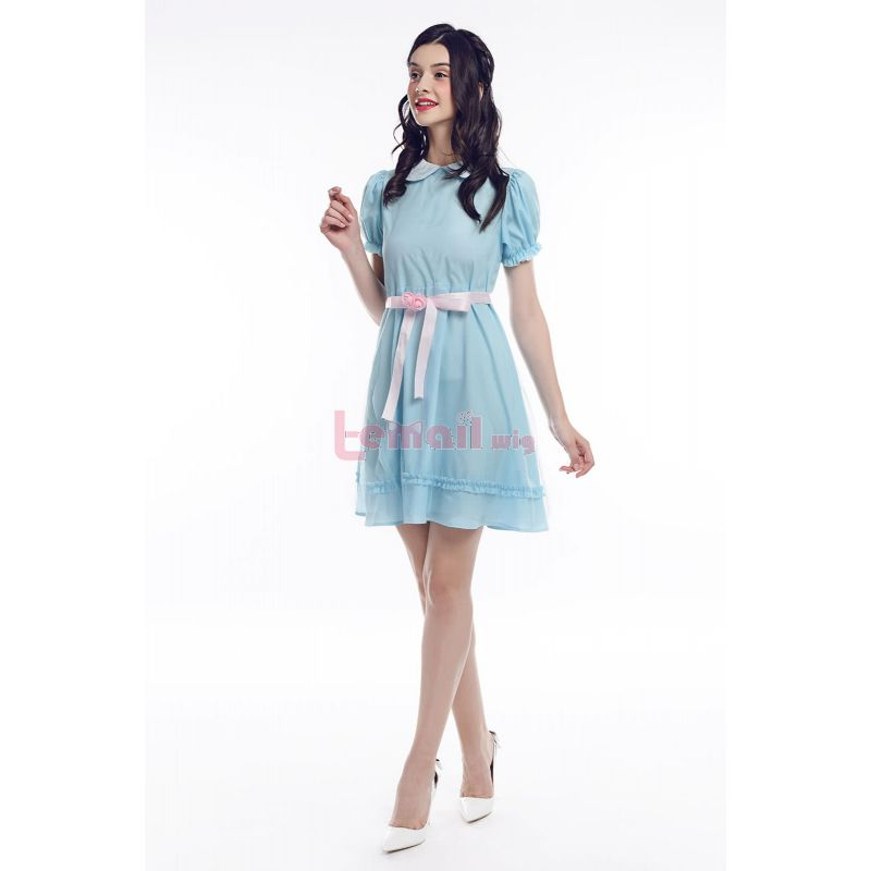 Anime The Shining Twins Blue Dress Cosplay Costumes