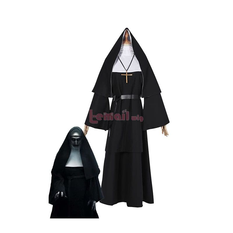 Horror Movie The Nun Trailer Valak Sister Cosplay Costumes