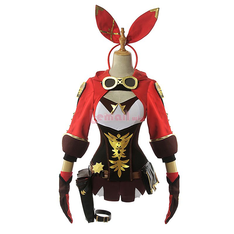 Game Genshin Impact Amber Cosplay Costume
