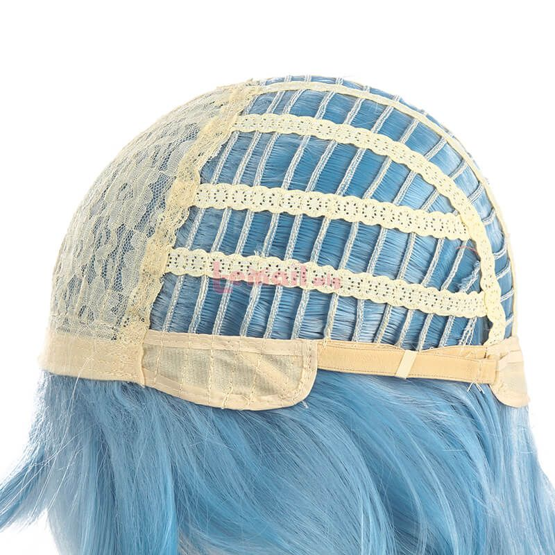 Game Genshin Impact Eula Light Blue Cosplay Wigs