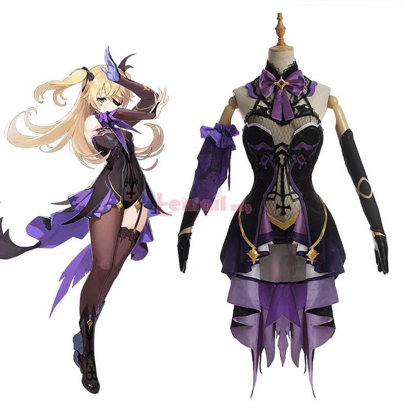 Game Genshin Impact Fischl Dress Cosplay Costume