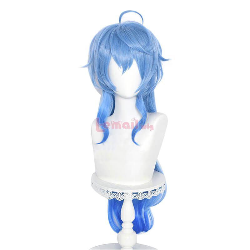 Game Genshin Impact Ganyu Long Gradient Blue Cosplay Wigs
