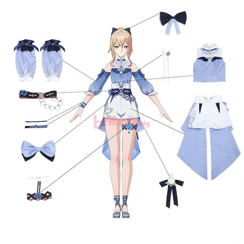Genshin Impact Jean Summer Suit Cosplay Costume