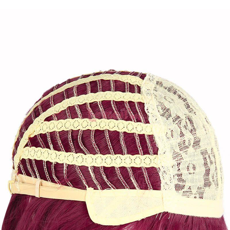 Genshin Impact Rosaria Short Wine Red Cosplay Wigs