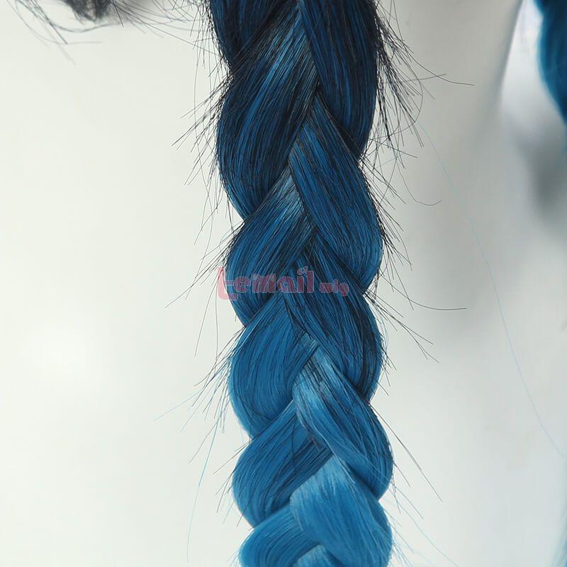 Game Genshin Impact Venti Gradient Blue Braided Cosplay Wigs
