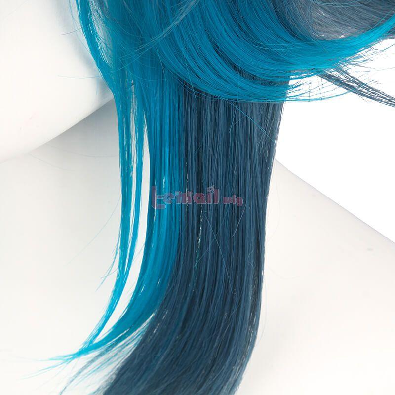 Genshin Impact Xiao Short Mixed Blue Cosplay Wigs