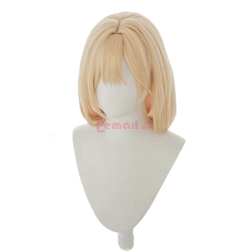 Hololive Vtuber Watson Amelia Blonde Straight Cosplay Wigs