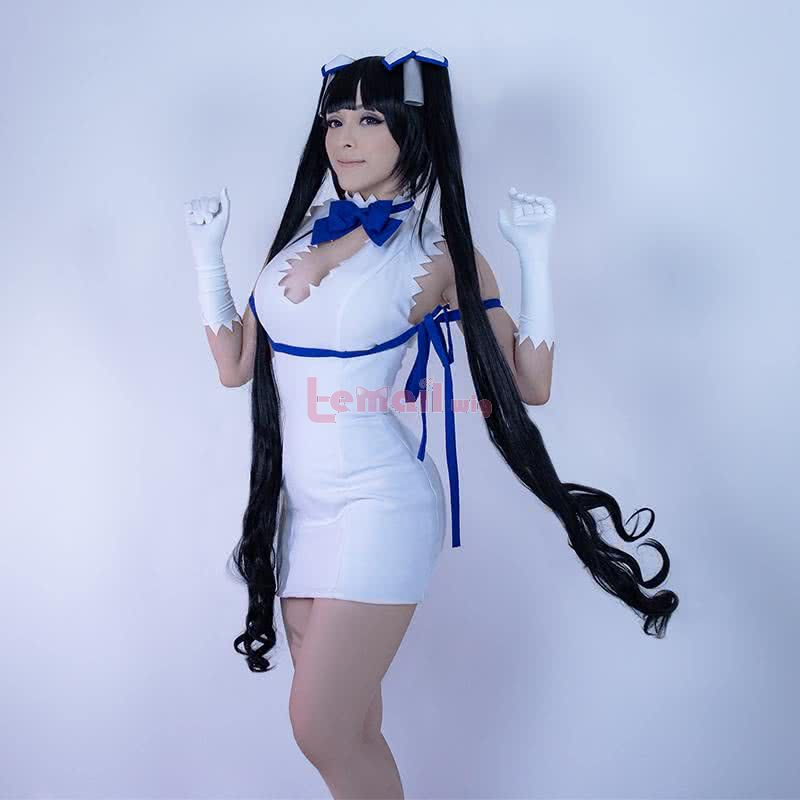 Is It Wrong to Try to Pick Up Girls in a Dungeon Hestia Long Black Curly Ponytail Cosplay Wigs