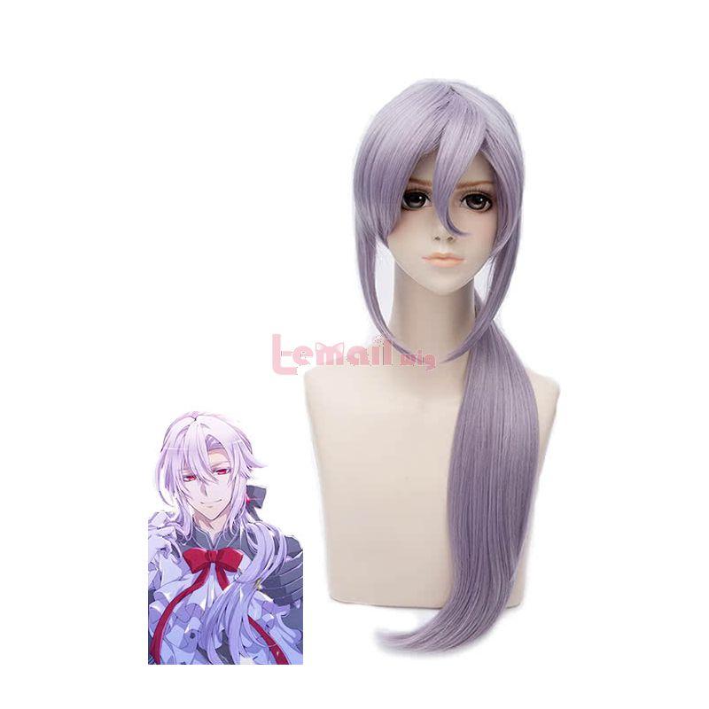 80cm Long Seraph Of The End Ferid Bathory Grey Cosplay wigs